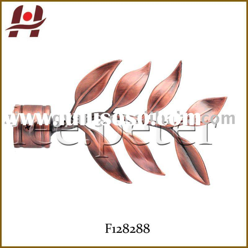 F128288 window metal iron aluminium zinc stainless steel leaf curtain rods