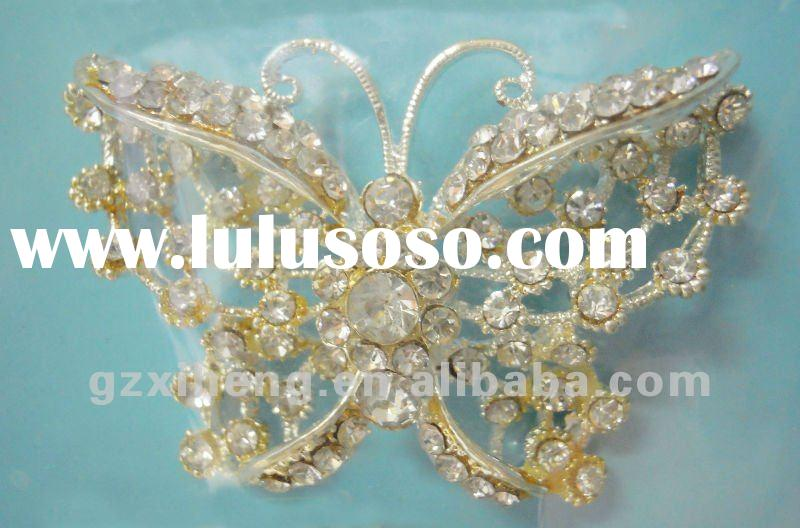 Fashion Rhinestone Butterfly Brooch for garment accessories