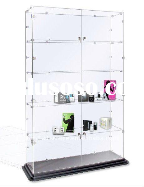 Floorstanding Acrylic 5 Shef Display Case With Lock
