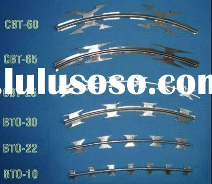 Hot-Dipped/Electro galvanized razor barbed wire
