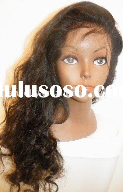 Human hair full lace wig, with baby hair, stocked full lace wig