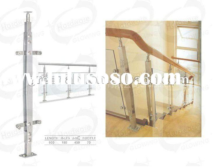 Indoor and Out door Stainless steel baluster,stair handrail,balcony railings,glass railings