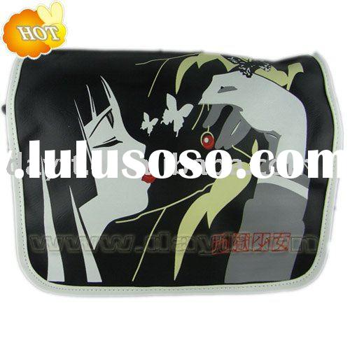Japan Anime Jigoku Shoujo PU leather messenger bag/shoulder bag for whole sale B0062