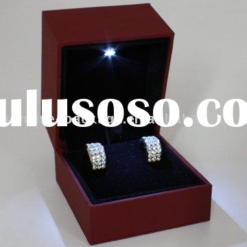 Led jewelry ring box with light