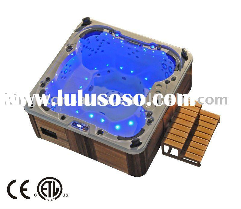 Luxury outdoor acrylic hot tub spa with stainless steel jets