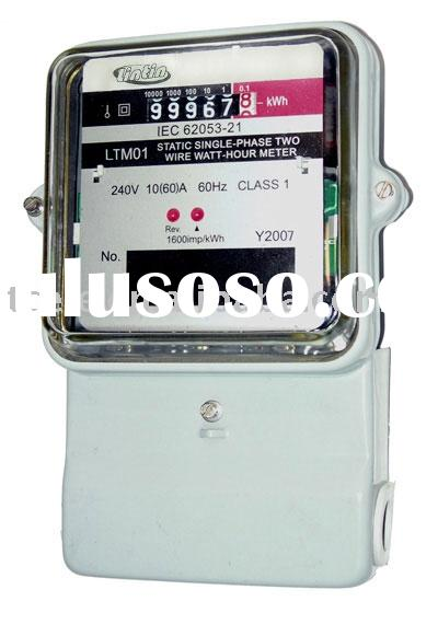 Mechanical electronic energy meter with 6 digits(power meter,smart meter,mechanical meter,kwh meter,