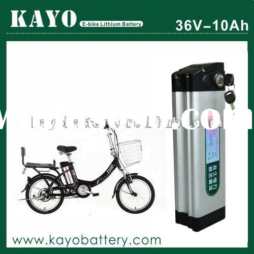 PROMOTION! 36v 10ah rechargeable electric bicycle li battery pack with BMS and charger
