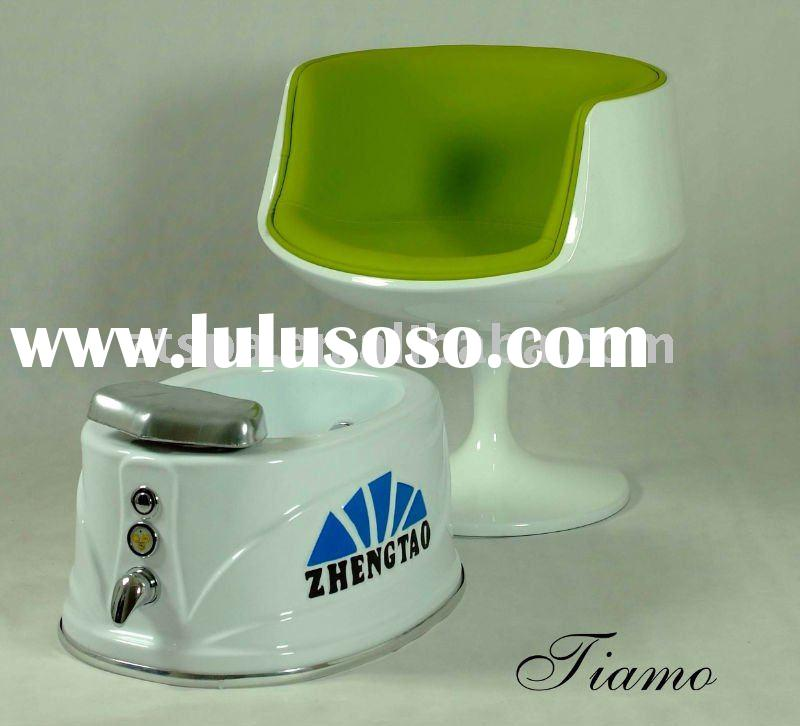 Pedicure foot massage tub and customer chair
