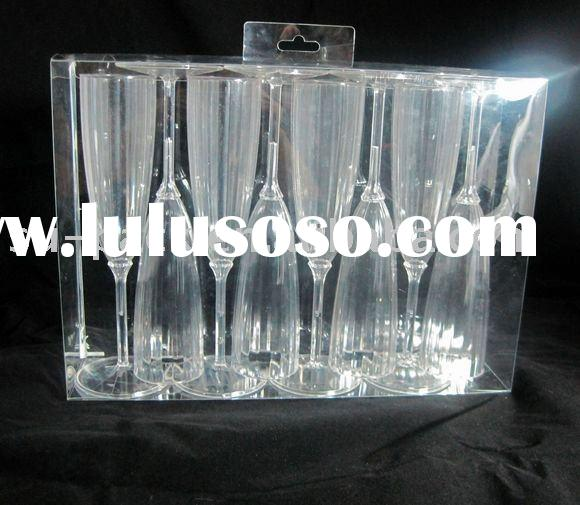 Plastic PVC Clear/Transparent Display Box/packaging for Glass