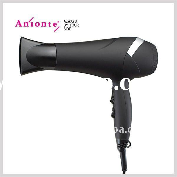 Powerful DC motor hair dryer with 2 speeds/3 heats