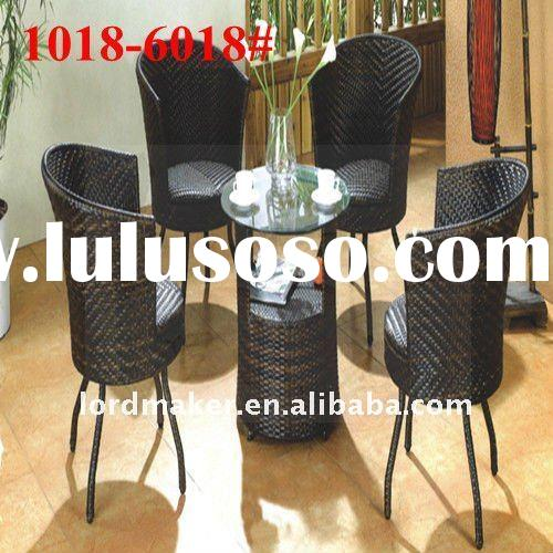 Rattan bistro table with chairs of rattan rocker chair (1018#-6018#)
