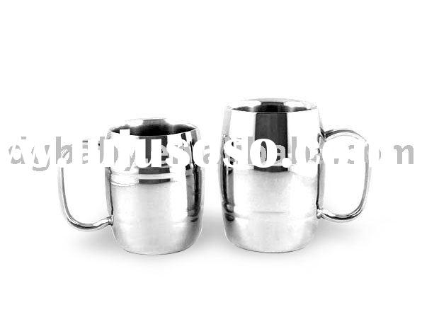 S/S Double wall beer Mug /cup