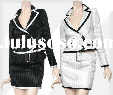 Short Skirt Suit Korea Black and Cream Suit Korea Specially Suit Korea