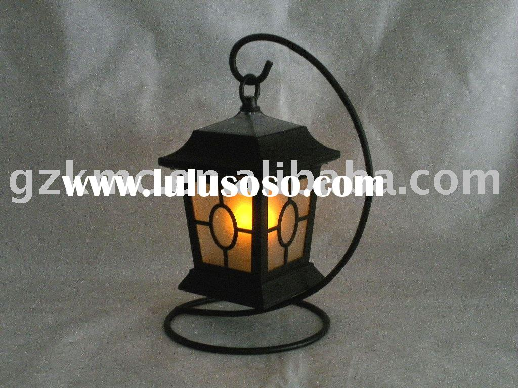 Solar LED Candle Lantern KT140PC(with big S stand)