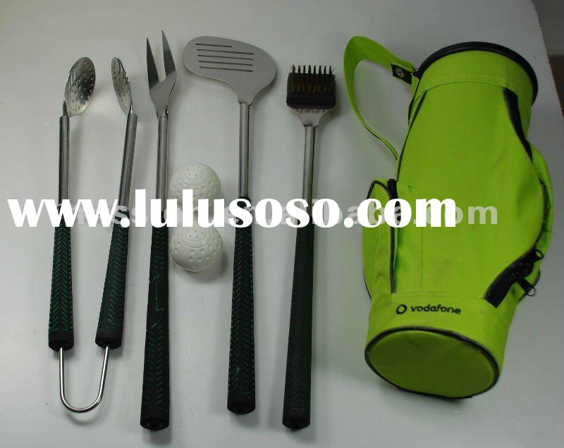 Stainless steel BBQ tool equipment with nylon bag