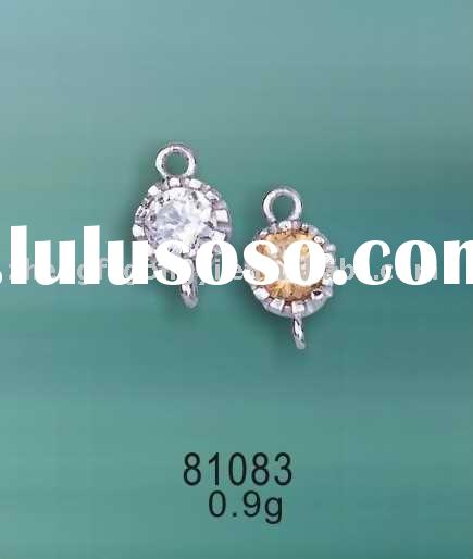 Sterling Silver Jewelry/925 Silver CZ Spacer Findings
