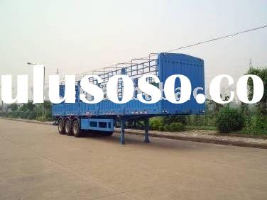 Store house semi trailer/ 3 axle compartment semi-trailer