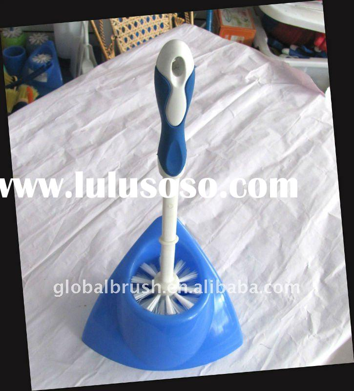 TOILET BRUSH AND BASE with TPR handle ITEM#1860