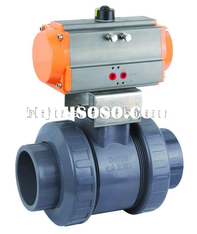 Upvc Pneumatic actuator ball valve
