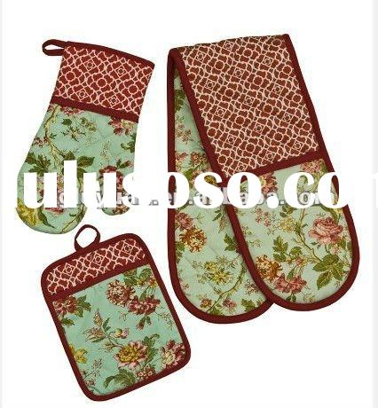 Waverly Kitchen Double Oven Glove Sets