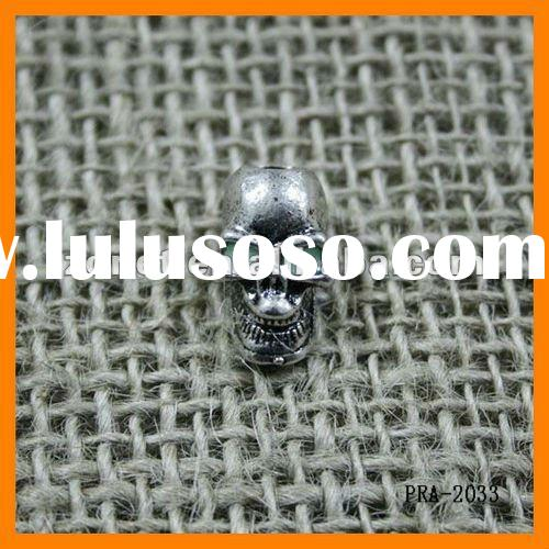 Wholesale Silver Plated Luminous Skull Beads 19*11mm Ornaments for knife lanyards or camping cord PR