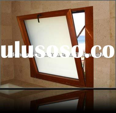 Wooden Grain Aluminum Venting Window Inswing For House HOT SALE