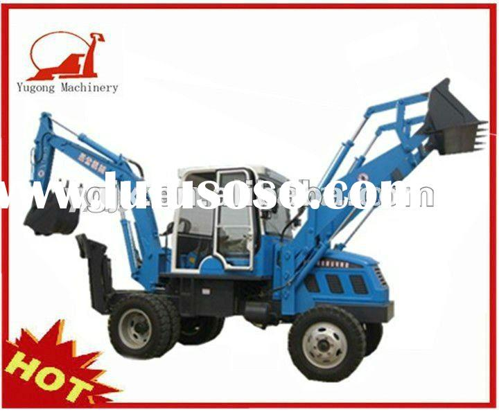 YGB75 Small case backhoe loader for sale 88kw with hydraulic breaker