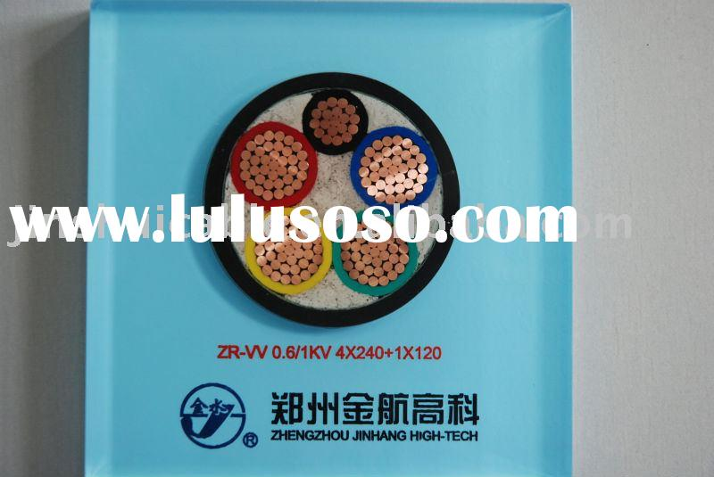 ZRB-YJV, or ZRA-YJV22 pvc insulated pvc sheathed copper power cable