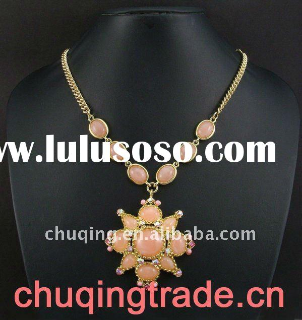 artificial jewelry and pink flower necklace