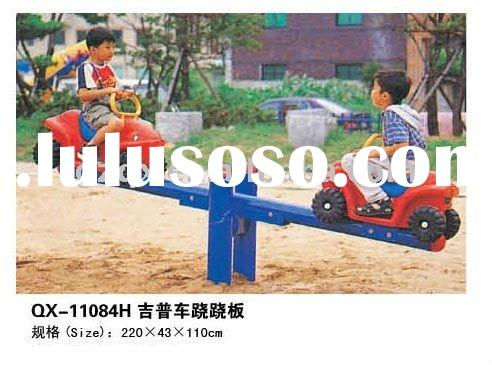 children playground outdoor equipment park swing and seesaw eco friendly playground equipment for ki