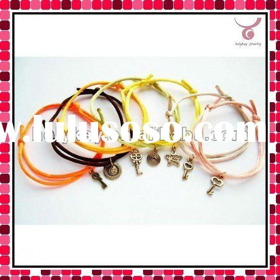 colorful good luck bracelet with charms