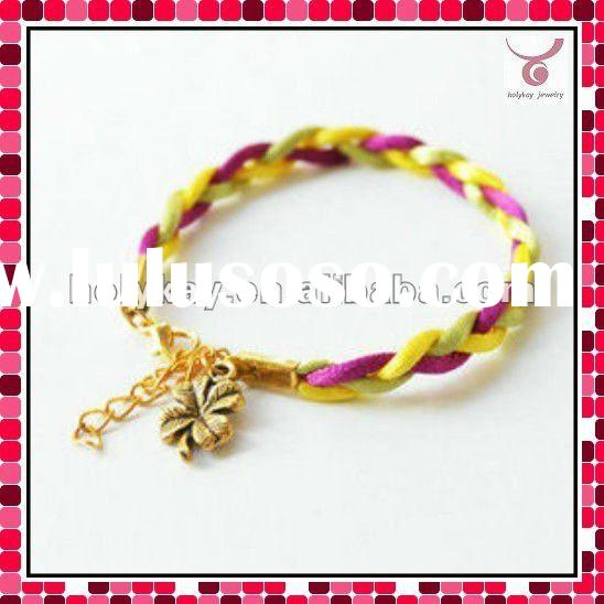 colorful strap good luck bracelet with charms