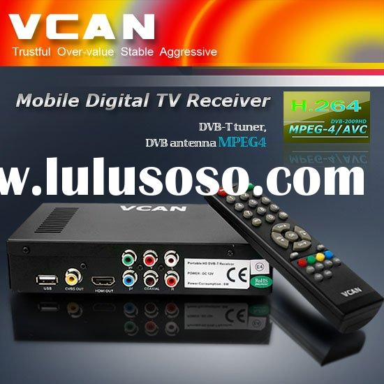 digital HDTV tuner of DVB-T MPEG4 H.264 for car 120KM/Hour