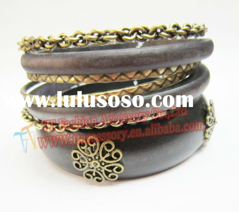 fashion antique african wood jewellery costume jewelry
