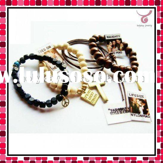 fashion good luck bracelet with cross charms