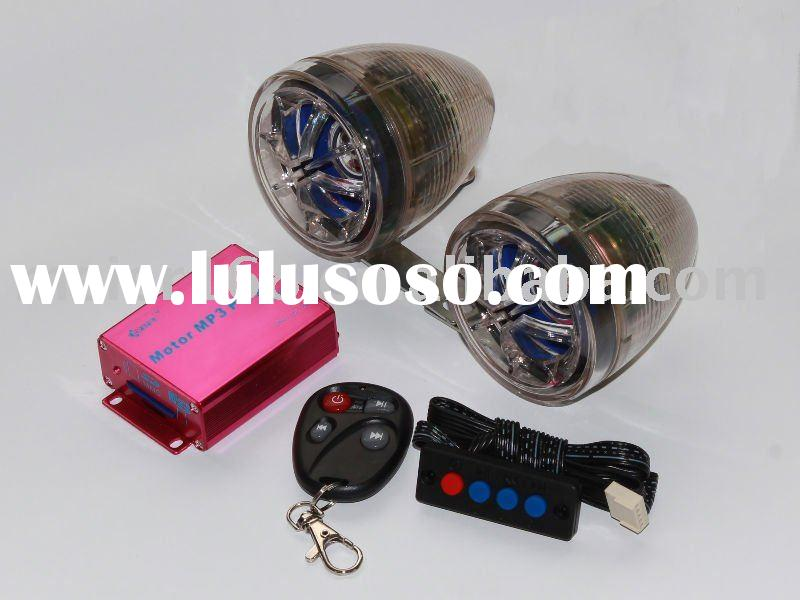 high quality motorcycle MP3 speaker with LED flash lighting