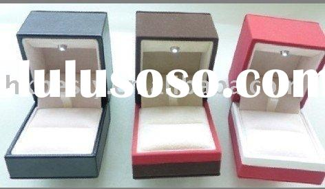 jewelry box with LED light inside and jewellery LED ring box