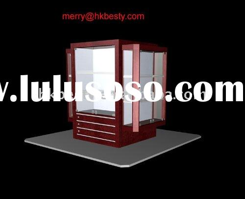 kiosk store round showcase for retail jewelry store furniture