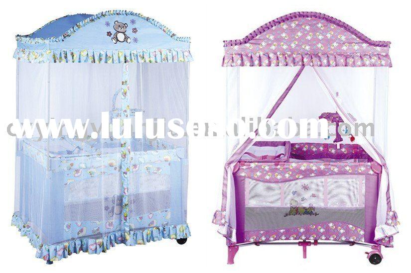 luxury square mosquito net baby playpen&crib&cot&baby products