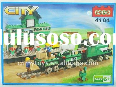 plastic train 413pcs cogo blocks toys for kids U3301587