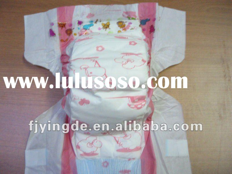 printed cheap waterproof adult baby diaper cotton napkin manufacturer in china