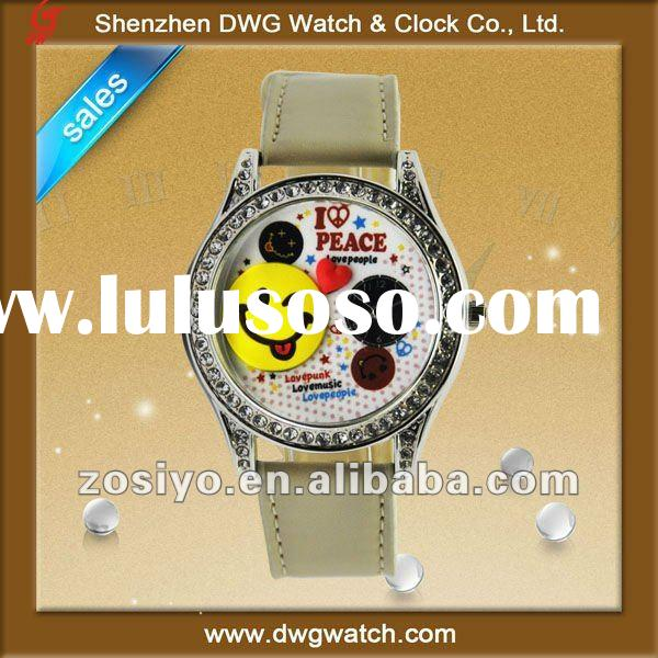 promotional leather watch with genuine leather band DWG--L0015