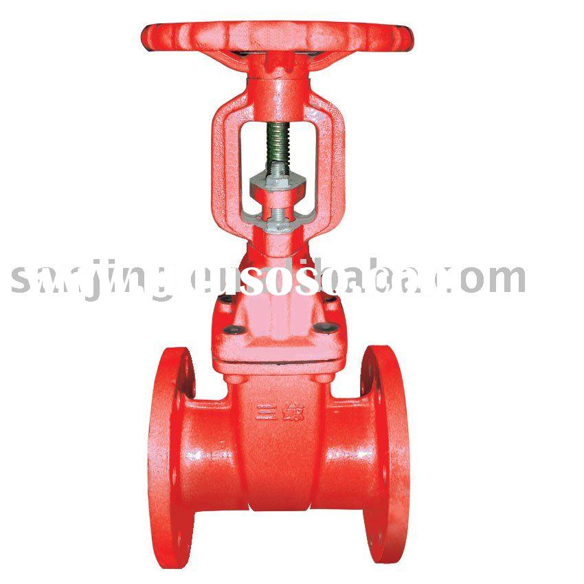 red Os&y gate valve