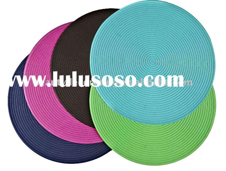 round PVC table mat
