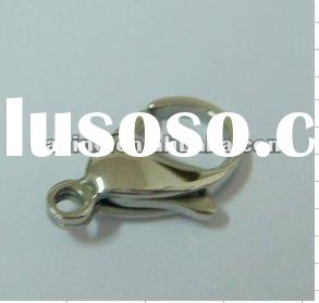 supply 316L/304 stainless steel mirror polish lobster clasp ,9mm-45mm lobster clasps ,jewelry findin