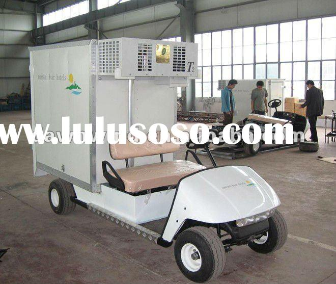 unique electric food transport car with 2000*1200*1250mm cooler bin box