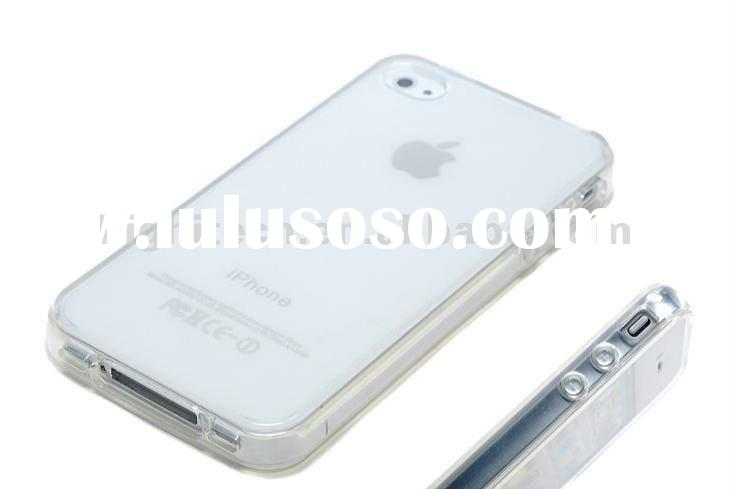 white clear TPU hard case For Iphone4/ 4s cell Phone Case,cover