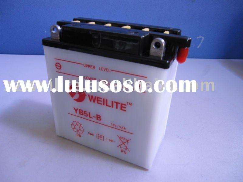 12v 5ah dry charged motorcycle battery YB5L-B
