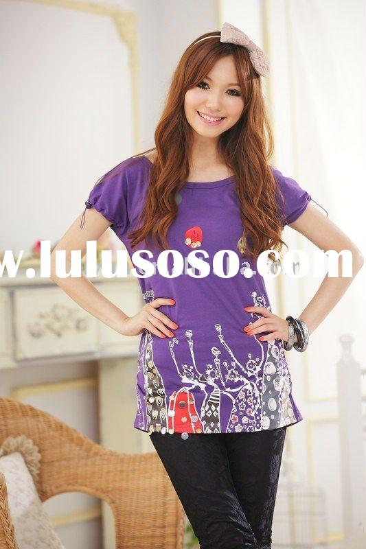 2011 Newest lady fashion t-shirt E9694 accept Paypal