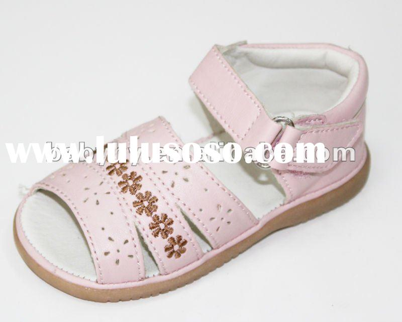 2011 new fashionable kid girls light pink squeaky high heel sandals shoes BH-SL089E
